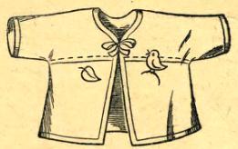 распашонка со швом по низу рукавчиков и грудке