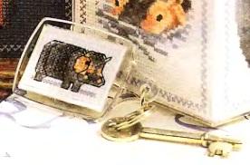 Брелок для ключей с бегемотом