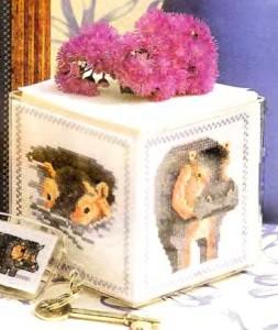 Коробка для бумаги с бегемотами