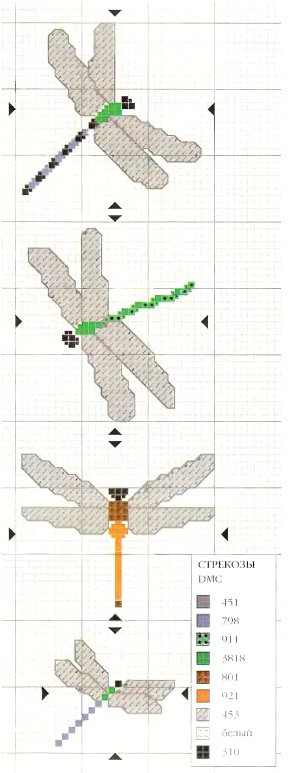 Схема стрекоз