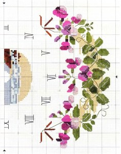Часы с прибрежными цветами