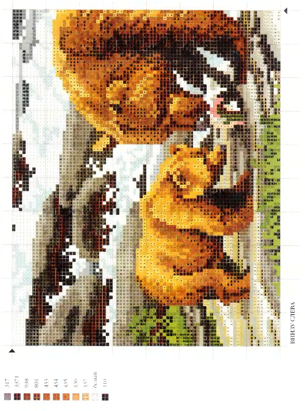 Вышивка крестом животные медведи