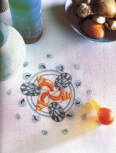 Скатерть с морскими ракушками