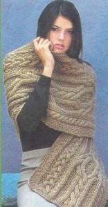 Вязание на спицах объемный шарф